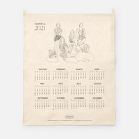 AESPA - 2021 CANVAS DRAWING CALENDAR