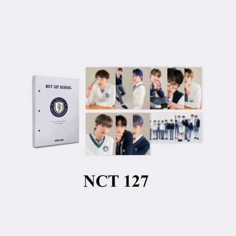 NCT 127 - 2021 BACK TO SCHOOL KIT - HARD COVER POSTCARD BOOK