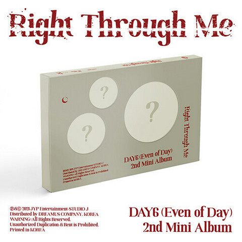 EVEN OF DAY (DAY6) - RIGHT THROUGH ME (2ND MINI ALBUM)