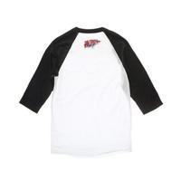 RED VELVET  - BAD BOY BASEBALL T-SHIRT - WHITE / BLACK