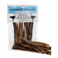 JR Pet Ostrich Straws – Strutsin kurkkutorvi, 4 kpl