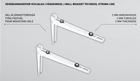 Kivijalka kannakepari ilmalämpöpumpulle Onnline PD100D20 Strong Line