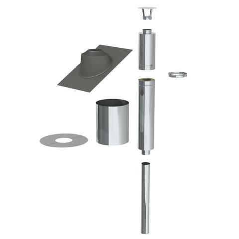 Savupiippu Jeremias eristetty saunapiippupaketti 115 mm RST