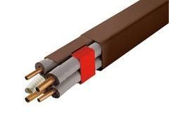 Ilmalämpöpumpun asennustarvike ruskea 2m 80x60 mm kanava Artiplastic
