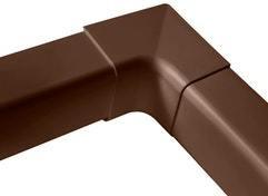 Ilmalämpöpumpun asennustarvike 80x60 mm sisäkulma ruskea Artiplastic