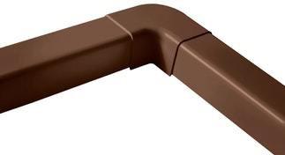 Ilmalämpöpumpun asennustarvike 80x60 mm kulma ruskea Artiplastic