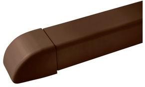 Ilmalämpöpumpun asennustarvike 80x60 mm päätykappale ruskea Artiplastic