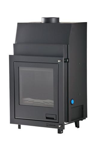 Vesitakkasydän Aquaflam 7 kW, suora lasi