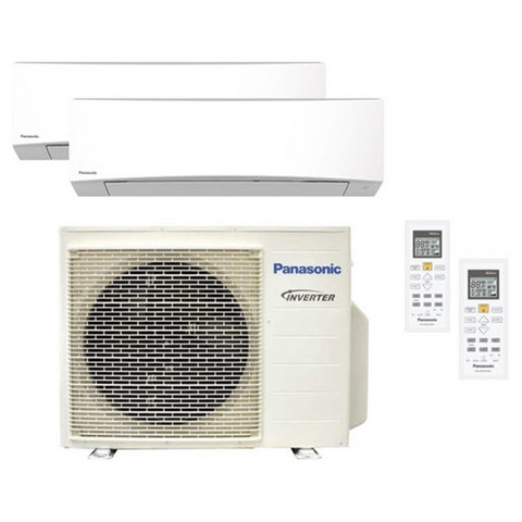 Panasonic 2Z50-ulkoyksikkö + 2 kpl TZ35-sisäyksikköä