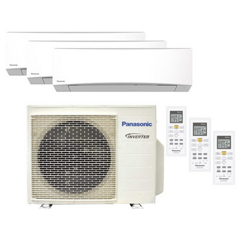 Panasonic 3Z52-ulkoyksikkö + 2 kpl TZ20- ja 1 kpl TZ35-sisäyksikköä