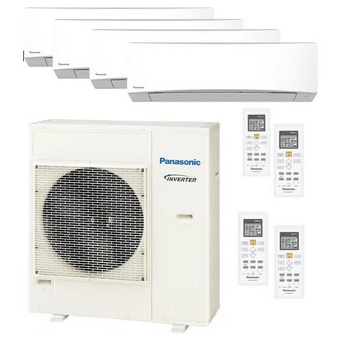Panasonic 5Z90-ulkoyksikkö + 1 kpl TZ25- ja 4 kpl TZ35-sisäyksikköä