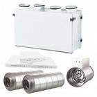 Ilmanvaihtokone Airsec 70V + lämmitin + äänenvaimentimet + suodattimet