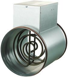 Kanavalämmitin Airsec 125 mm / 1200 W elektronisella termostaatilla