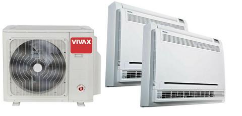 Vivax lattiamalli - valmis paketti 2 sisäyksiköllä