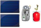 Aurinkokeräinpaketti 2kpl FINO tasokeräintä aurinkolämmitykseen 150-250l hybridivaraajalle