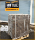 Ekologinen polttopuu HOT-brikettiklapi 480kg teholava kaikkiin tulisijoihin
