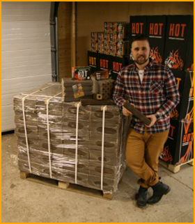 Ekologinen polttopuu HOT-brikettiklapi 960kg eurolava kaikkiin tulisijoihin