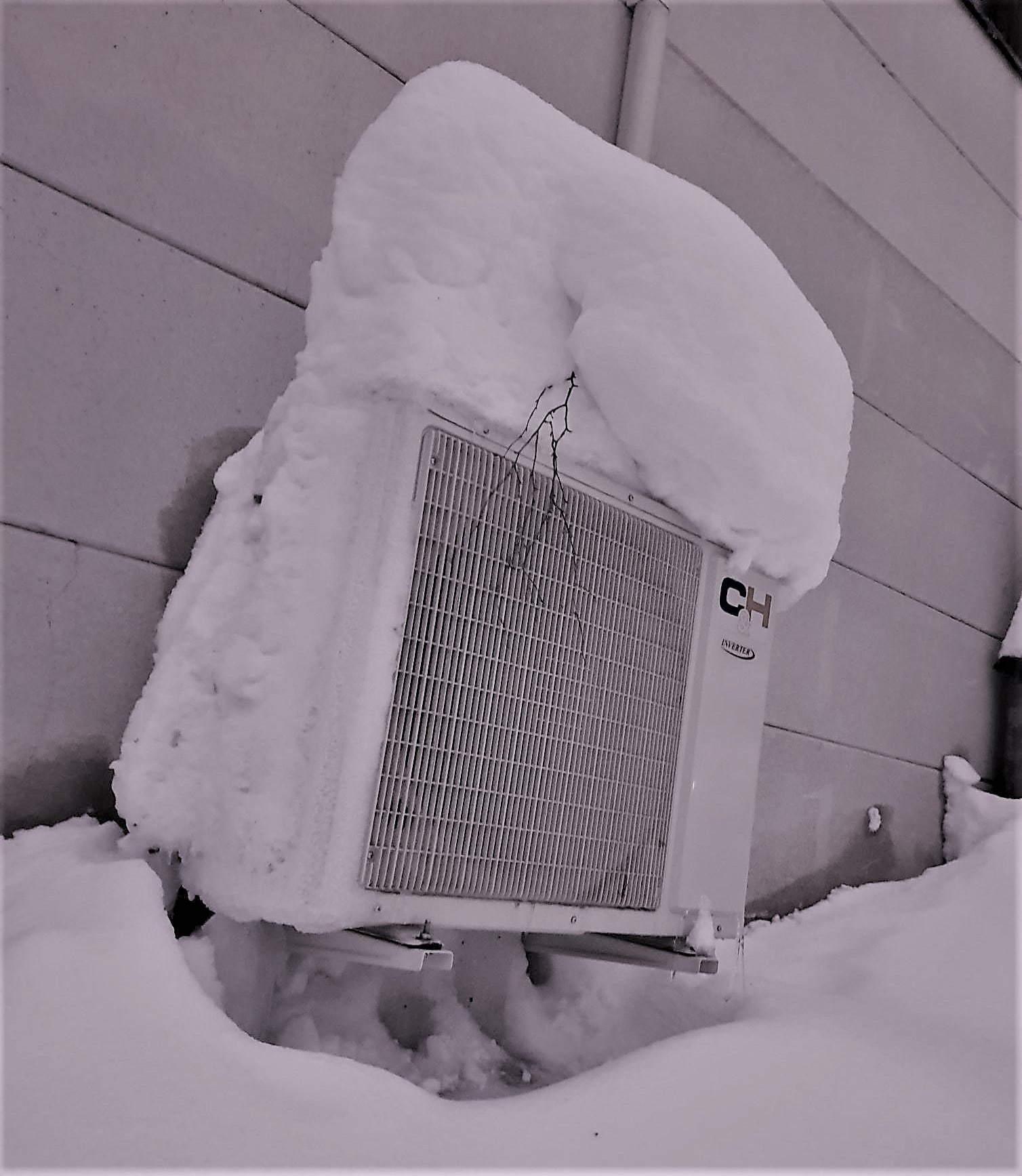 Ilmalämpöpumpun toiminta vaihtelevissa talvisissa olosuhteissa