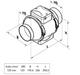 Kanavapuhallin Airsec TTPA 125 mm + tyristorisäädin