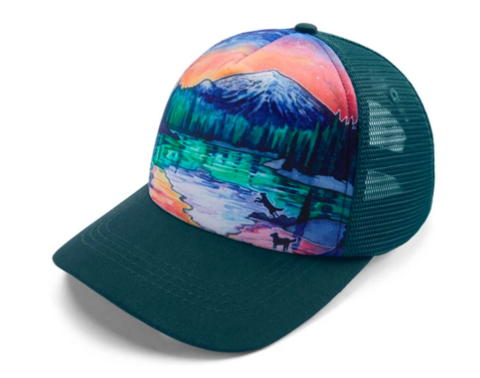 Ruffwear Artist Series Trucker Hat Sparks Lake