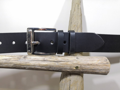 Jens musta nahkavyö 40mm