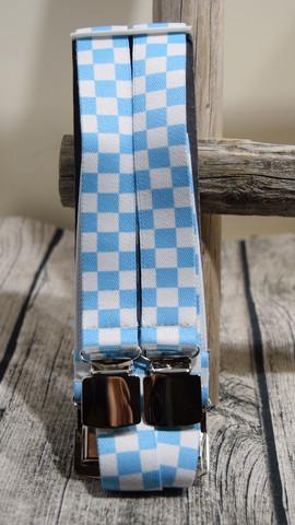 Sinivalkoinen ruutuhenkseli 25mm