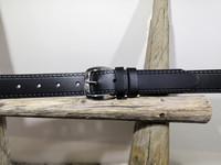 Musta nahkavyö valusoljella 30 mm