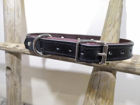 Vuoritettu nahkainen kaulapanta 25mm