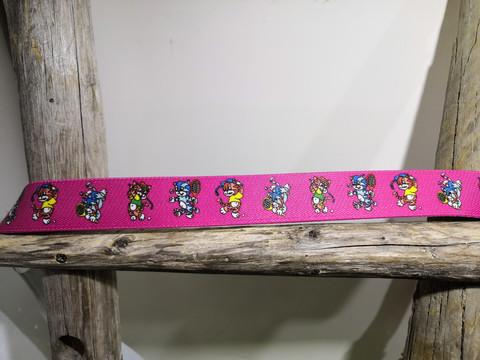 Pinkki kissa joustovyö 25mm