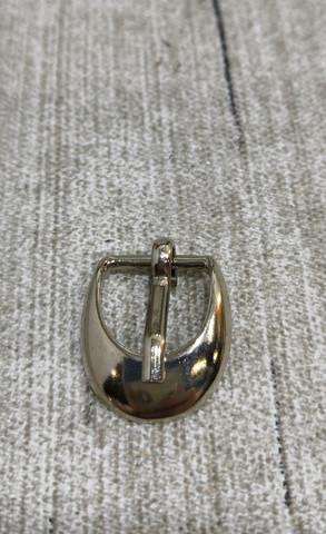 Hopean värinen 10mm solki (puoli pyöreä reuna)