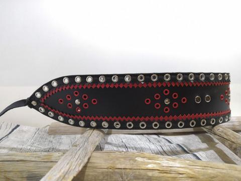 Lapinvyö 80mm/2h musta/punainen/musta