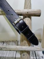 Musta 40mm/1T parkkinahkavyö Ompeleella