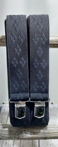 Musta salmiakkiruutu henkseli 36mm