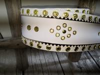 70mm valko/kulta/valkoinen lapinvyö