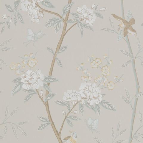 Peony & Blossom - Soft Aqua BW45066.3