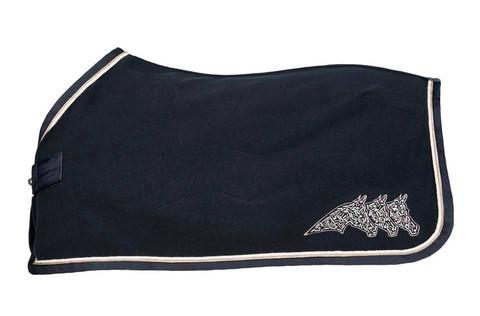 Equiline Rice fleeceloimi, musta, koko 145cm