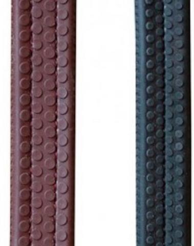 Dy'on Working Collection kumiohjat, ruskea ja musta, hopeiset soljet