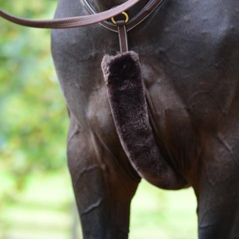 Kentucky lampaankarvapehmuste rintaremmiin, musta ja ruskea