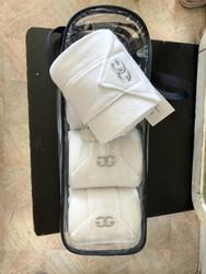 Glen Gordon valkoiset fleecepintelit, 4kpl/paketti