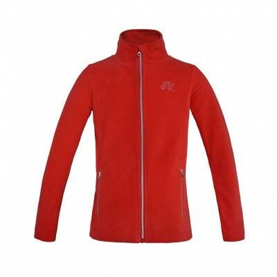 Kingsland Adele Junior Fleece jacket, punainen ja navy