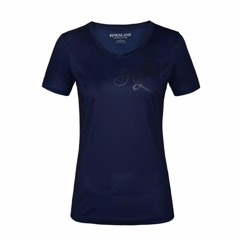 Kingsland Janisi naisten T-paita V-kaula-aukolla, tummansininen