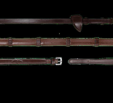 Dyon Working Collection kumiohjat stoppareilla, ruskea ja musta, messinkiset soljet