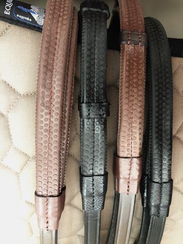 Dyon Working Collection kumiohjat, ruskea ja musta, messinkiset soljet