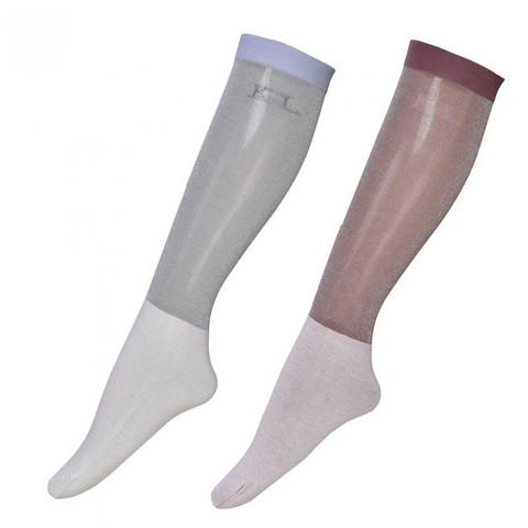 Kingsland Leyna Glitter Show Socks, kahden parin pakkaus