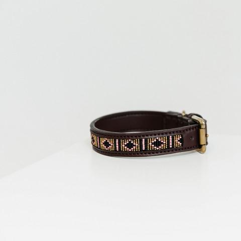 Kentucky koiran kaulapanta collar handmade pearls, koot M-L