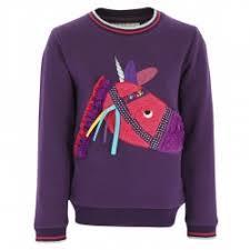 Equi-Kids Pilpoil lasten swetari, violetti, koko 128cm