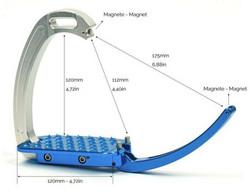 Tech Stirrups turvajalustimet, ruskea/hopea