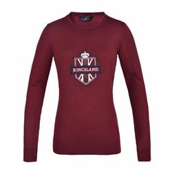 Kingsland Anatoli Ladies Knitted Sweater, viininpunainen, koko XS