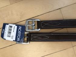 Norton jalustinhihnat, musta ja ruskea, pituus 137cm