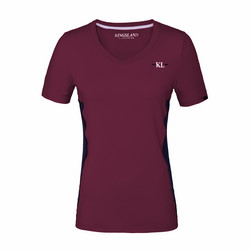Kingsland Jaslyn Ladies V-neck Training Shirt, viininpunainen